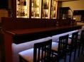 大人な雰囲気漂うカウンター席完備!!柔らかな照明の光が漂う空間は、デートや女子会にも大好評です★食材にこだわったお料理と、相性ピッタリなお酒をごゆっくりお楽しみください♪