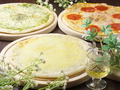 料理メニュー写真ピザ各種