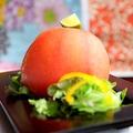 料理メニュー写真貝柱の丸ごとトマトサラダ