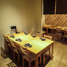 【2階席(半個室風)】2~4名席×2/6~8名席×1。最大20名様迄可能