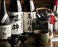 季節に合わせて、お酒を各種ご用意。