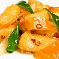 料理メニュー写真白身魚の辛味炒め