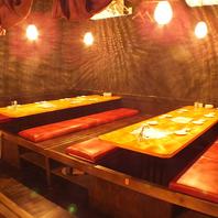掘りごたつの半個室空間は最大52名様までOK!