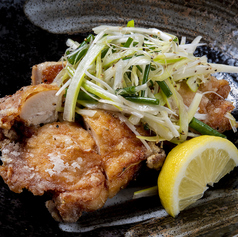 鶏の唐揚げネギまみれ(一枚揚げ)