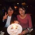 誕生日☆記念日には特製プレート!