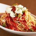 料理メニュー写真アンチョビ・モッツァレラ・ブロッコリーのトマトパスタ