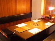 4名のテーブル席
