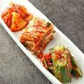 料理メニュー写真自家製キムチ三種盛り