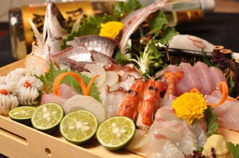 【魚や】の贅沢コース 全8品4500円→3980円