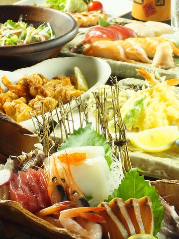 海鮮オーダーバイキング!お刺身&お寿司が税込3600円で食べ放題!!