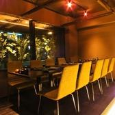 【テーブル席個室】間接照明がキレイなテーブル席…。貸切は最大24名までOK!