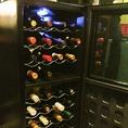 ワインセラーございます!適温でボトルワインをご提供いたします。