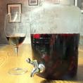 6リッターのボトルに入った自家製サングリア。こだわりのサングリアはフルーツの香りが深くワインに溶け込んだラヴァーズロック自慢のサングリアです。【個室 町田 飲み放題 誕生日】