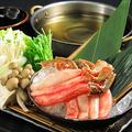 料理メニュー写真生ずわい蟹のしゃぶしゃぶ
