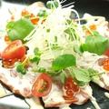 料理メニュー写真炙りトロサーモンのカルパッチョ