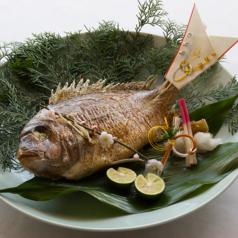 料理メニュー写真鯛姿焼き