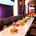 広々としたテーブルは大人数の宴会にもばっちりご対応!会社宴会やサークルの飲み会などもお任せ♪