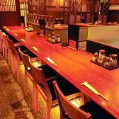 カウンターは10席まであるから、1人でも気兼ねなく食事が楽しめます。お気軽にご来店ください!
