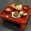 料理メニュー写真一汁三菜の「お食い初め膳」