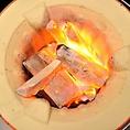 【本格炭火】やっぱり美味しい肉には本格炭が欠かせない。オープン前からお客様を炭を温めて待っております。