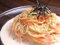 料理メニュー写真明太子の冷製クリームパスタ