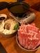ぜいたく3品2セット+ミニ野菜盛り+しゃぶしゃぶ鍋