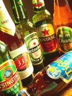 世界の輸入ビールが豊富☆