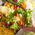 料理メニュー写真野菜で包むヘルシーチーズタッカルビ