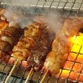 料理メニュー写真ハツ串/ししとう/豚バラ