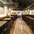 お洒落な空間の中、美味しいお料理とお酒を飲みながら、楽しいひと時をお過ごしください♪