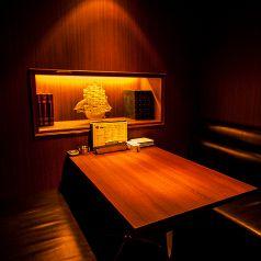 寛ぎのお時間をお過ごし頂けるテーブル個室/2名~4名でのご利用に最適