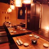 大人数でも大丈夫な掘りごたつ席!個室としての料理も可能です!!最大23名様の個室です