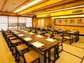 部屋の広さは、新潟駅前でトップクラス!最大個室130名まで!3フロア貸切も可能!※300名程度まで現在は定員の50%以下の人数でのレイアウトとなります。