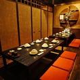 10~14名様掘りごたつ個室です!ご宴会は「博多もつ鍋 馬肉 九州自慢 川崎東口タワー・リバーク店」でどうぞ。各種ご相談承っております!