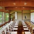 【10名様~40名様までご利用可能です】美山亭本館で一番のスケールを誇る宴会特別会席は最大40名様までのご宴会を承っております。上質の空間でお寛ぎいただきながら旬の食材豊富なご会席をお愉しみください。