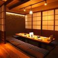 会社宴会、プライベートあらゆるシーンに最適な程良く広い贅沢空間です。