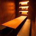 落ち着いた雰囲気の掘りごたつ個室
