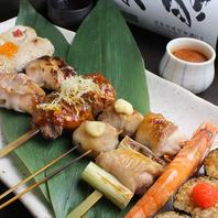 ◆朝〆鶏の串焼は必食!