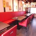 【2階:テーブル】ゆったりくつろぎいただけます!すでにお客様がおられる場合はカウンターでご利用いただく場合がございます。ご了承下さい。