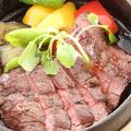 料理メニュー写真牛ハラミの網焼きステーキ