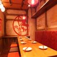 【テーブル席】6名様で広々とお使いいただける席となっております。各種ご宴会でもご利用ください。