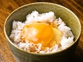 料理メニュー写真卵かけご飯(TKG)