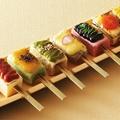 料理メニュー写真豆腐と生麩の七味七彩田楽