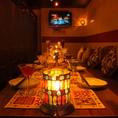 4名様~20名様個室でWAIWAIパーティ!くつろぎの個室空間は4名様~地中海テイストのあふれる個室は雰囲気抜群♪個室宴会・ご宴会・各種ご宴会、飲み会、歓送迎会が可能!