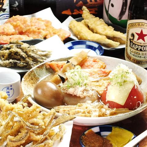 大正駅ガード下のレトロな雰囲気漂う◎汁まで美味しいと評判のおでんと天ぷらに舌鼓♪