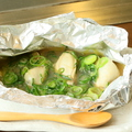 料理メニュー写真カキのホイル焼き:3粒