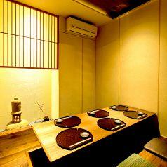 【誕生日・記念日】お二人でも寛いでいただける落ち着いた雰囲気の完全個室。