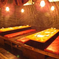 12名様までの掘りごたつ席。くっつければ最大52名様までOKのバンケットルームに。。【岡山/岡山駅/バル/女子会/飲み放題/個室/宴会/魚/肉/ワイン/千屋牛/誕生日/記念日】