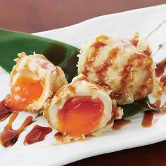 料理メニュー写真半熟味玉の天ぷら