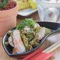 料理メニュー写真鶏ササミとさぼてんの梅肉和え